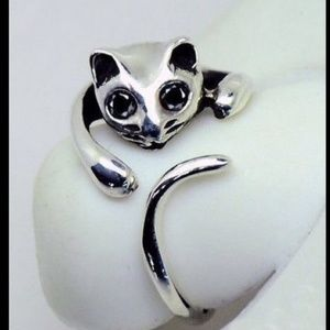 CAT SILVER ADJUSTABLE Ring